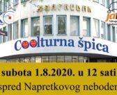 Najava: Coolturna špica - opet smo s Vama 1.8.2020.