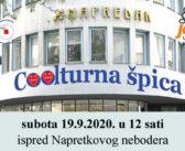 """Najava: Nova """"Coolturna špica"""" na programu subotu 19.9.2020."""